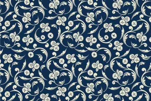 Barock Annabelle - Türvorhang-Stoff Nachtblau