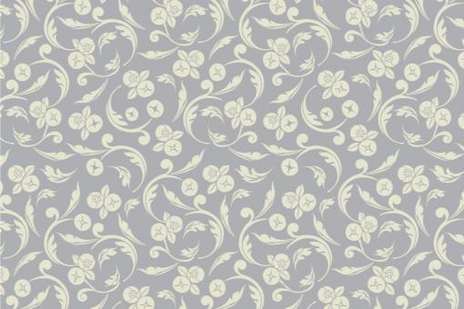 Barock Annabelle - Türvorhang-Stoff Silber