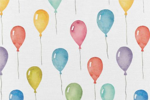 Anti-Moskito-Stoff - Luftballons Weiß