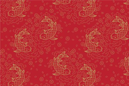 Peking - Türvorhang-Stoff Rot