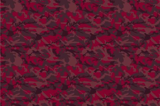 Sibirischer Nacht-Tarn - Türvorhang-Stoff Sibirean Red