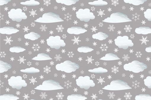 Schnee-Wolken - Türvorhang-Stoff Grau