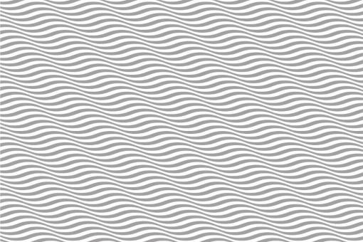 Wellen in 3D - Türvorhang-Stoff Grau
