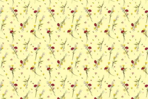 Wildblumen - Türvorhang-Stoff Vanile