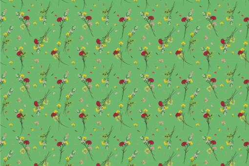 Wildblumen - Türvorhang-Stoff Grün