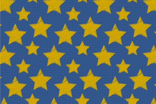 Colourful Stars - Türvorhang-Stoff Nachtblau