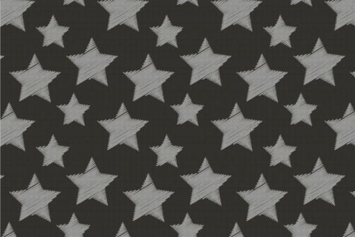 Colourful Stars - Türvorhang-Stoff Dunkelgrau