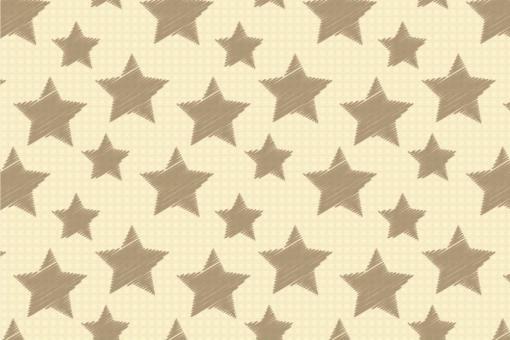 Colourful Stars - Türvorhang-Stoff Creme