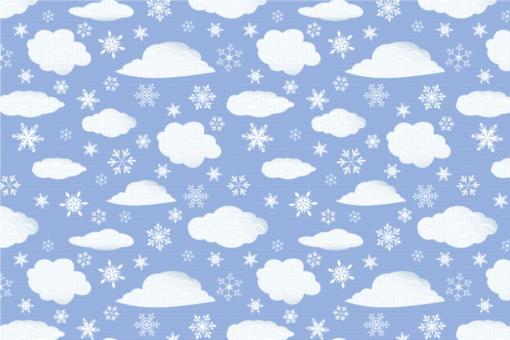 Schnee-Wolken - Türvorhang-Stoff Eisblau