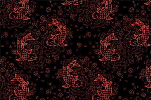 Peking - Türvorhang-Stoff Orange