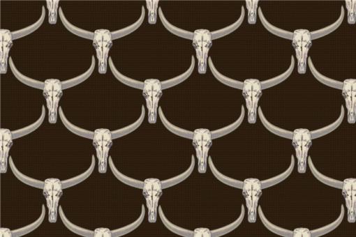 Bulls - Türvorhang-Stoff Dunkelbraun