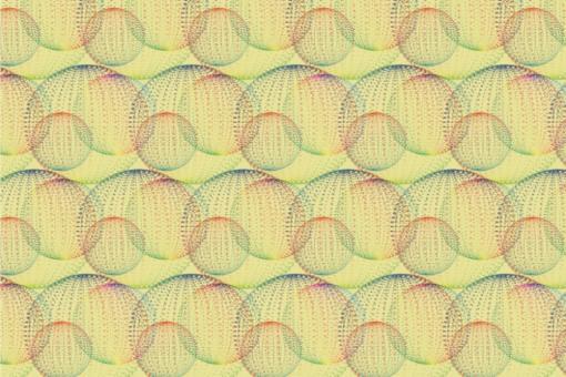 Türvorhangstoff - Bubbles Vanille