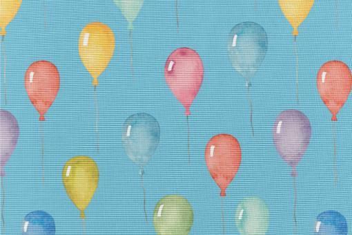 Anti-Moskito-Stoff - Luftballons Himmelblau