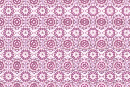 Frottee mit Fleece - Mandala Flor Rosa/Pink