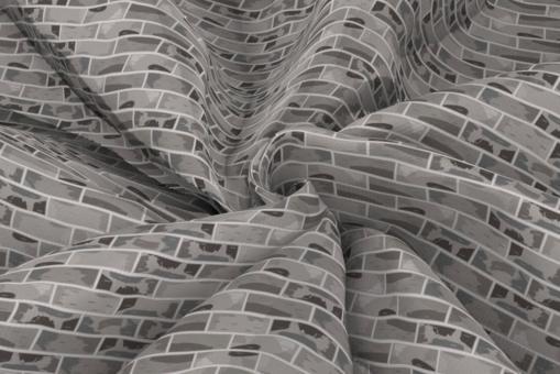 Wärmevorhang-Stoff - Ziegel Grau