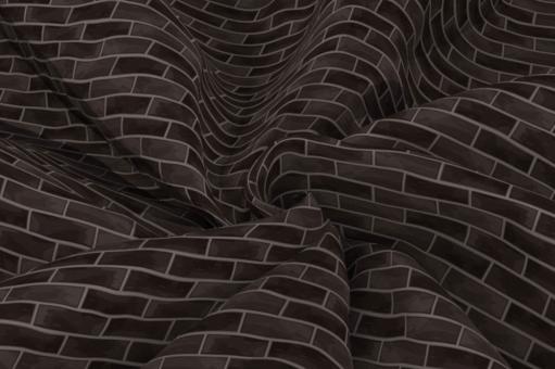 Wärmevorhang-Stoff - Ziegel Schwarz