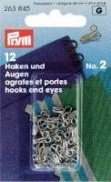 Federhaken silber - 12 Stück