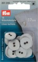 """Wäscheknöpfe Leinen - 6  Stück Ø 17mm"""""""