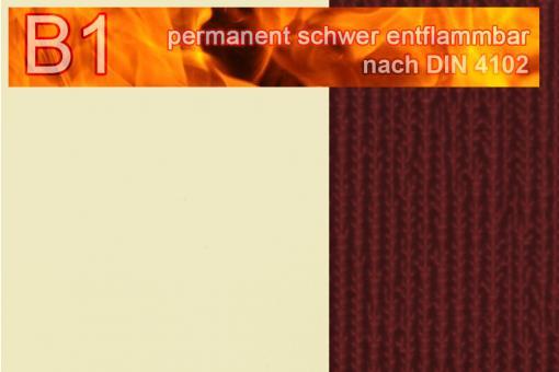 PVC-Markisenstoff Deluxe B1 - Blockstreifen - 180 cm Beige/Bordeaux