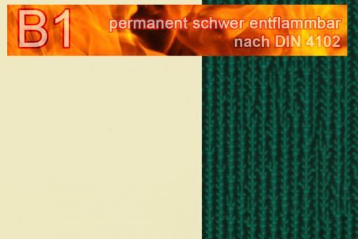 PVC-Markisenstoff Deluxe B1 - Blockstreifen - 180 cm Beige/Grün