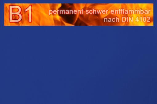 PVC-Markisenstoff exklusiv - B1 permanent schwer entflammbar - Uni Blau