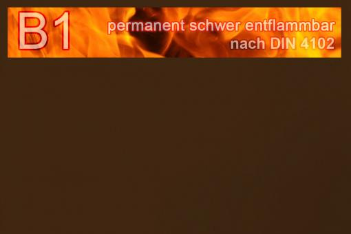 PVC-Markisenstoff exklusiv - B1 permanent schwer entflammbar - Uni Dunkelbraun