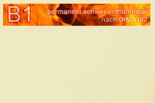 PVC-Markisenstoff exklusiv - B1 permanent schwer entflammbar - Uni Champagner