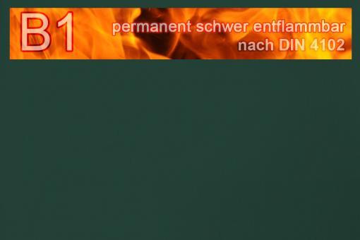 PVC-Markisenstoff exklusiv - B1 permanent schwer entflammbar - Uni Dunkelgrün