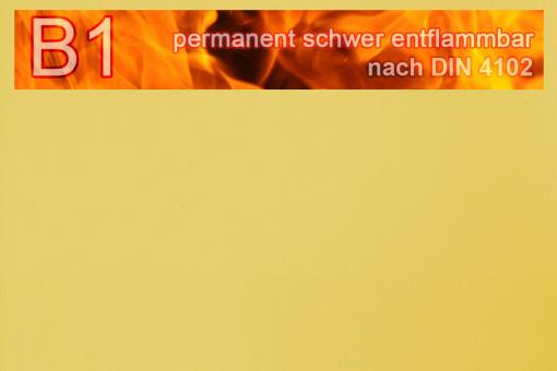 PVC-Markisenstoff exklusiv - B1 permanent schwer entflammbar - Uni Gelb