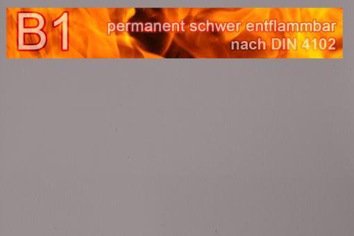 PVC-Markisenstoff exklusiv - B1 permanent schwer entflammbar - Uni Grau