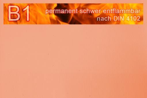 PVC-Markisenstoff exklusiv - B1 permanent schwer entflammbar - Uni Pfirsich