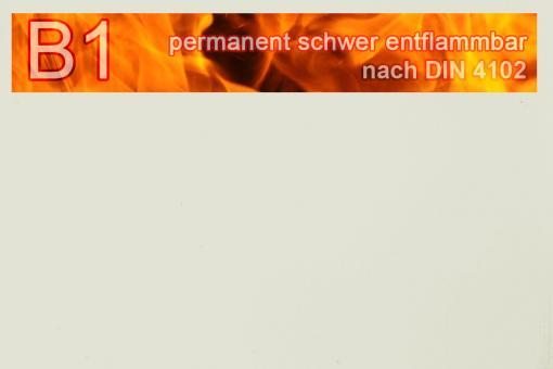 PVC-Markisenstoff exklusiv - B1 permanent schwer entflammbar - Uni Perlweiß