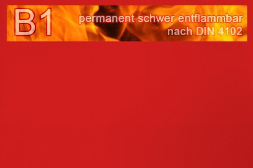PVC-Markisenstoff exklusiv - B1 permanent schwer entflammbar - Uni Rot
