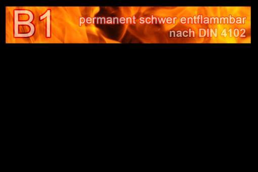 PVC-Markisenstoff exklusiv - B1 permanent schwer entflammbar - Uni Schwarz