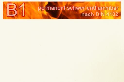 PVC-Markisenstoff exklusiv - B1 permanent schwer entflammbar - Uni Weiß