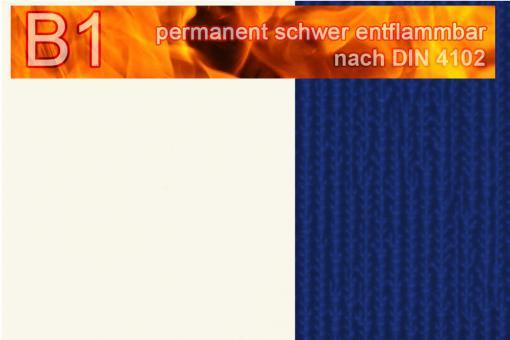 PVC-Markisenstoff Deluxe B1 - Blockstreifen - 180 cm Weiß/Blau