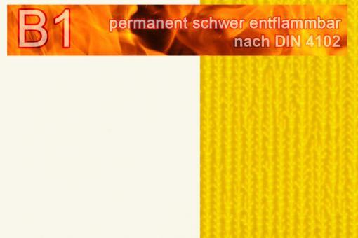 PVC-Markisenstoff Deluxe B1 - Blockstreifen - 180 cm Weiß/Gelb