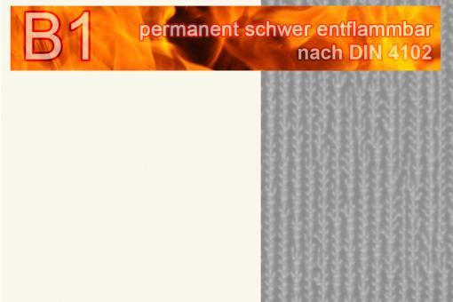 PVC-Markisenstoff Deluxe B1 - Blockstreifen - 180 cm Weiß/Grau