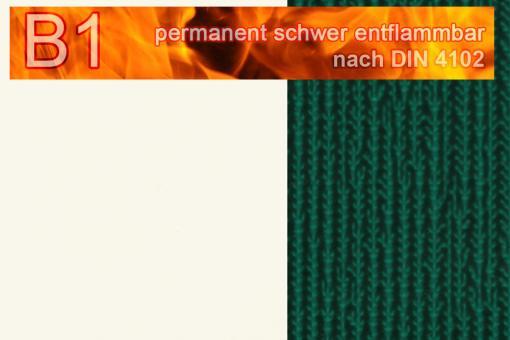 PVC-Markisenstoff Deluxe B1 - Blockstreifen - 180 cm Weiß/Grün
