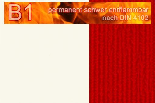 PVC-Markisenstoff Deluxe B1 - Blockstreifen - 180 cm Weiß/Rot