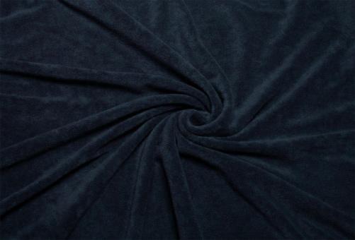 Frottee Stretch Nachtblau