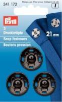 Annäh-Druckknöpfe 21mm schwarz - 3 Stück