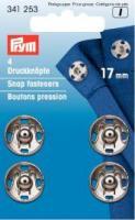 Annäh-Druckknöpfe 17mm silber - 4 Stück