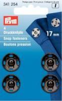 Annäh-Druckknöpfe 17mm schwarz - 4 Stück