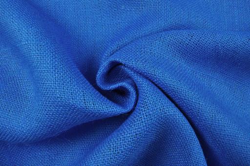 Sackleinen Jute farbig - 120 cm Royalblau