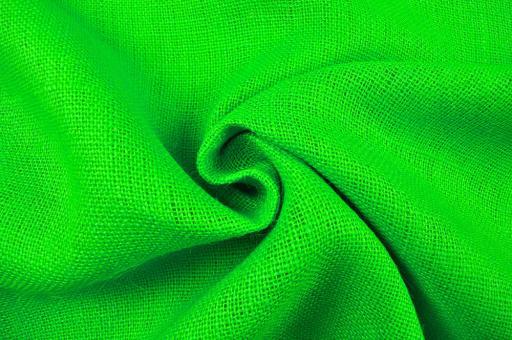 Sackleinen Jute farbig - 120 cm Knallgrün