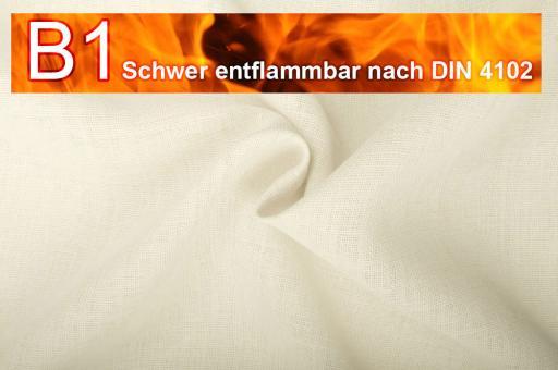 Sackleinen Jute B1 farbig 130 cm Wollweiß