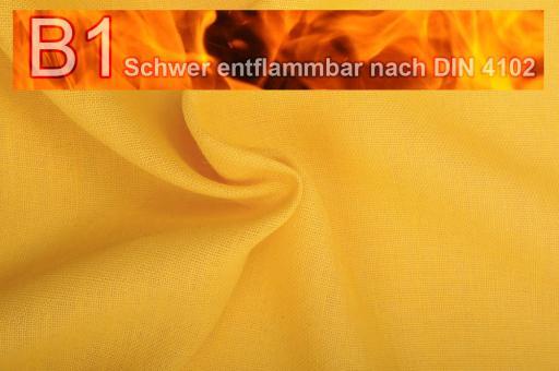 Sackleinen Jute B1 farbig 130 cm Gelb