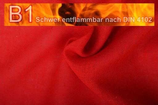 Sackleinen Jute B1 farbig 130 cm Rot