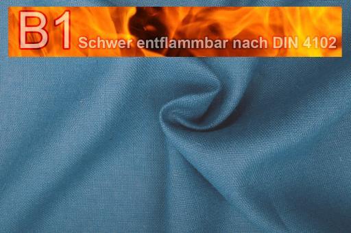 Sackleinen Jute B1 farbig 130 cm Stahlblau
